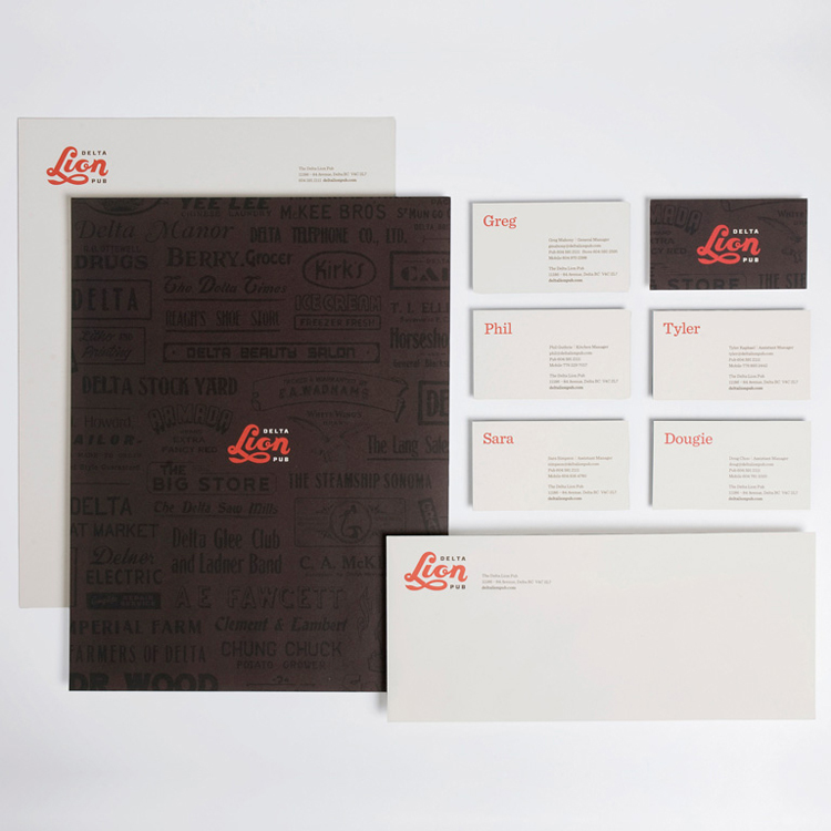 The Delta Lion Pub Stationery