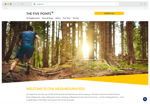 Screenshot of the neighbourhood section of the Five Points website