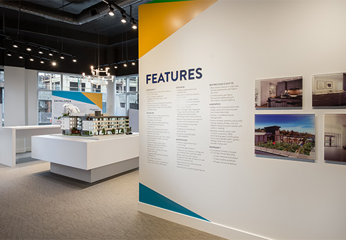 Interior shot of the Five Points presentation centre