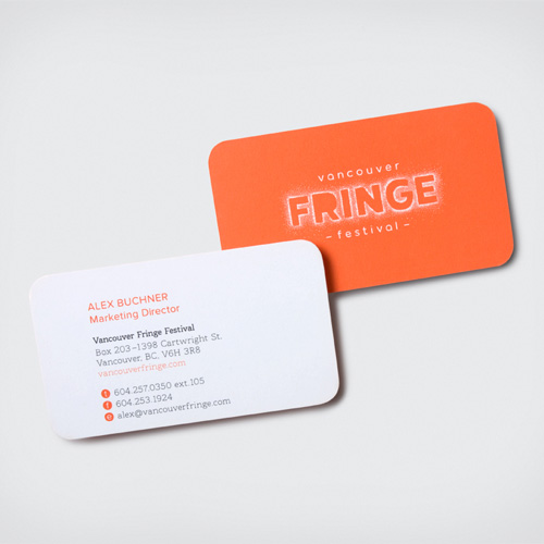 Vancouver Fringe Fesitval Business Cards