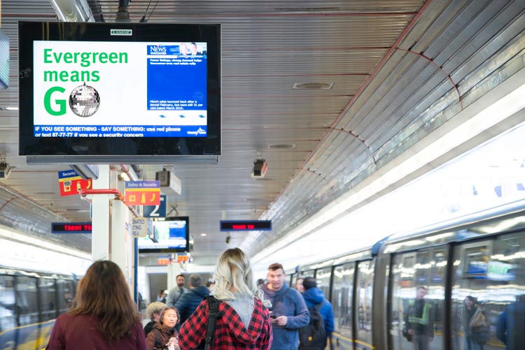 TransLink Evergreen Line LCD Screen Ad