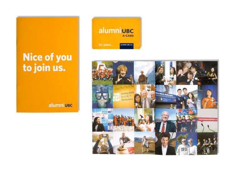 A sample of the Alumni UBC Branding